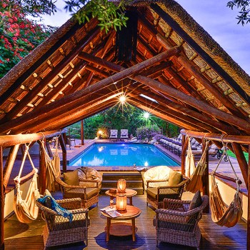 Lobengula Lodge Pool Lounge