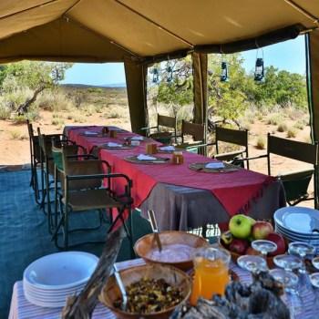 Sanbona Explorer Camp Dinner Table