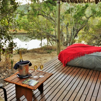 Sibuya Forest Camp Tent Deck