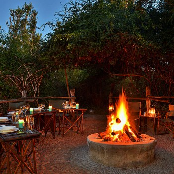 Sibuya River Lodge Fire Pit