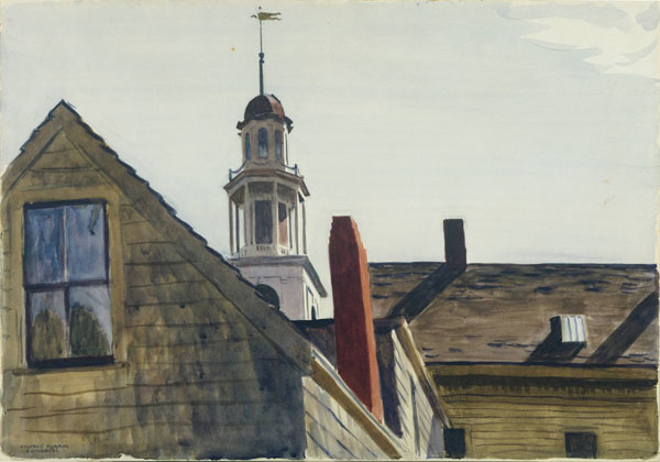 Edward Hopper, American, 1882-1967. Universalist Church, 1926. Watercolor over graphite on cream wove paper, 35.6 x 50.8 cm. (14 x 20 in.). Princeton University Art Museum. Laura P. Hall Memorial Collection, bequest of Professor Clifton R. Hall x1946-268. Photo: Bruce M. White.