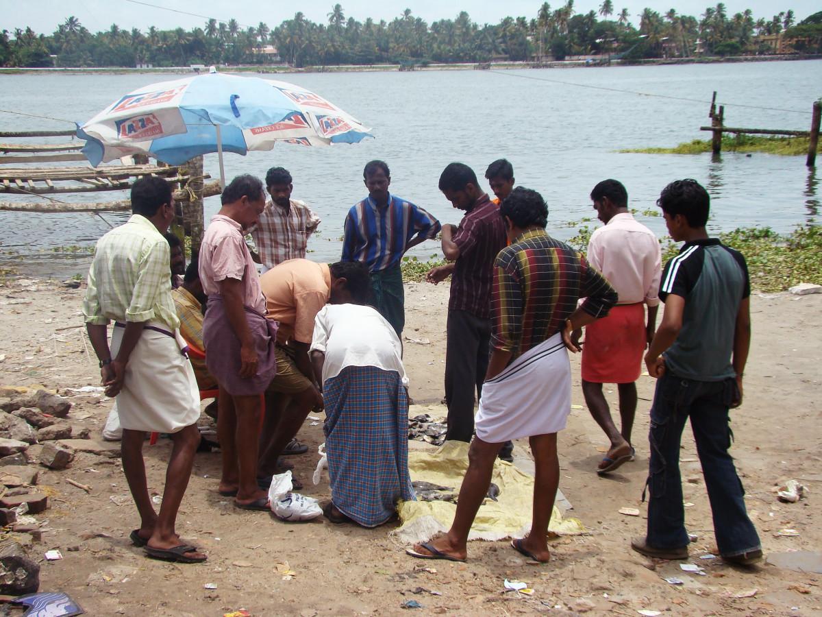 Fishermen at Fort Kochi // India