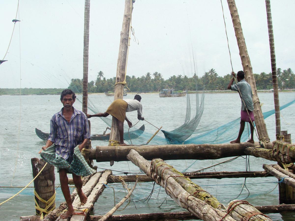 Fishermen Fort Kochi // India