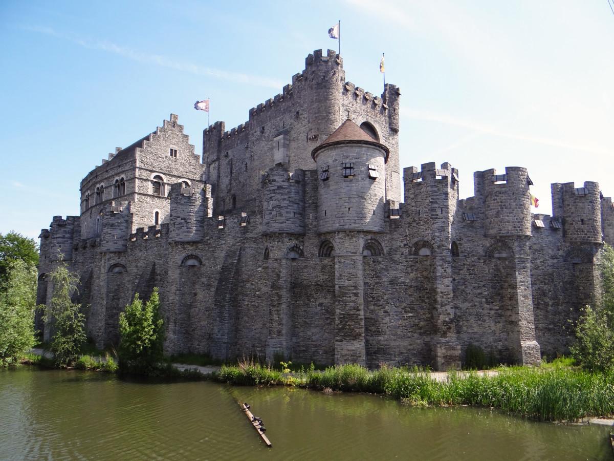 Belgium Ghent Medieval City Gravensteen