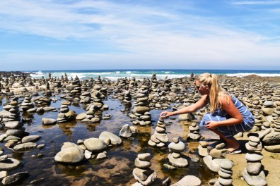 Stone towers Great Ocean Road Victoria Australia