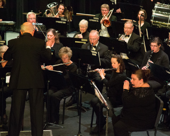 Members of the Cape Cod Concert Band play in concert