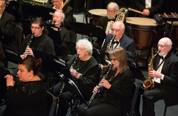 Wind players perform with the Cape Cod Concert Band
