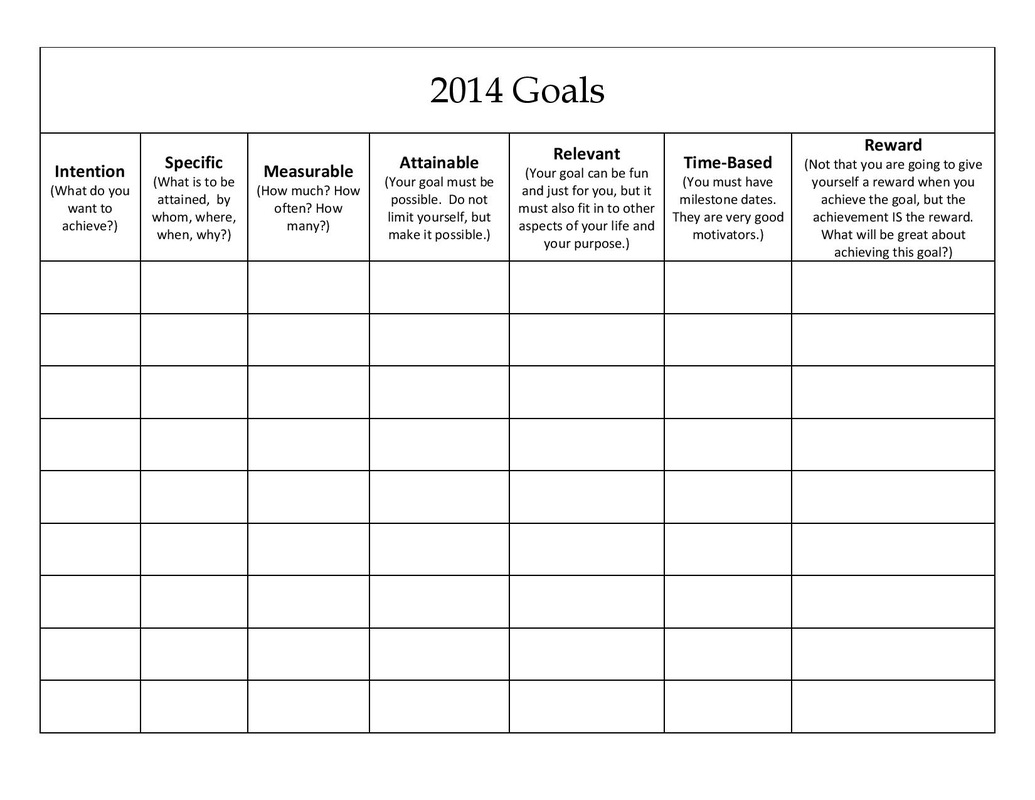 New 196 Family Goals Worksheet