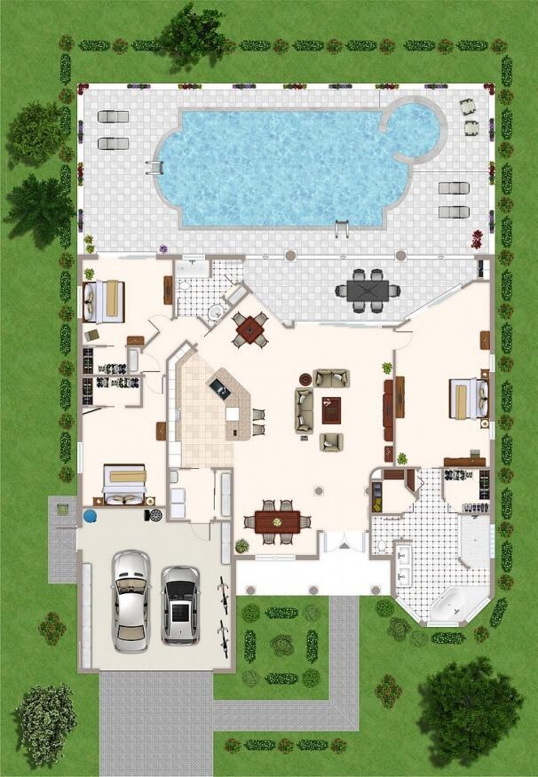 Grundriss Villa Tao Ferienhaus in Cape Coral