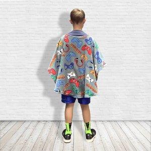 Fleece poncho cape