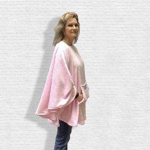 Pink Minky Fleece Poncho Cape