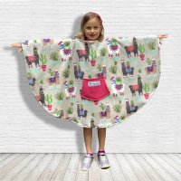 Child Hospital Gift Fleece Poncho Lamas