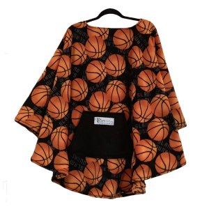 Mens Hospital Gift Basketball Fleece Poncho Cape