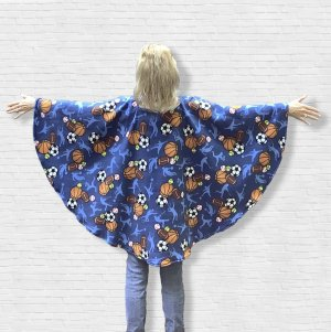 Adult Hospital Gift Fleece Poncho Cape Ivy Sport