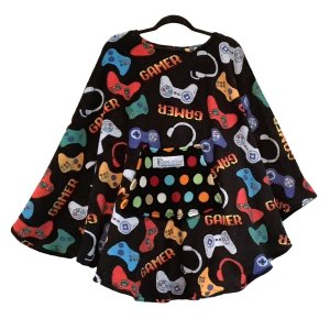 Teen Hospital Gift Fleece Poncho Cape Ivy Video Gamer