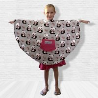 Child Hospital Gift Fleece Poncho Cape Ivy Pandas