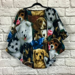 Child Hospital gift fleece poncho Cape Ivy puppies