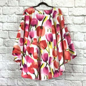 Adult Hospital Gift Fleece Poncho Cape Ivy Floral