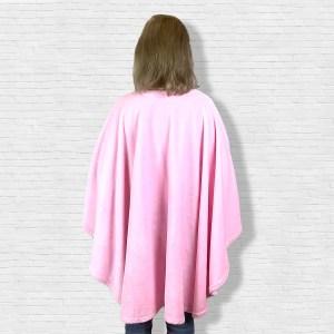 Adult Hospital Gift Fleece Poncho Cape Ivy Pink