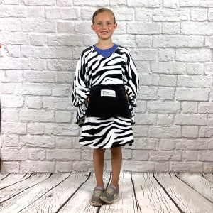 Child Hospital Gift Fleece Poncho Cape Ivy Zebra