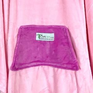 Pink Fleece Poncho