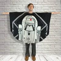 Adult Teen Hospital Gift Fleece Poncho Cape Ivy Star Wars™ R2D2
