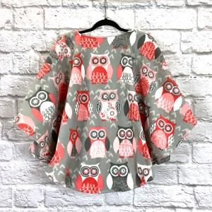 Child Hospital Gift Fleece Poncho Cape Ivy Wise Owl
