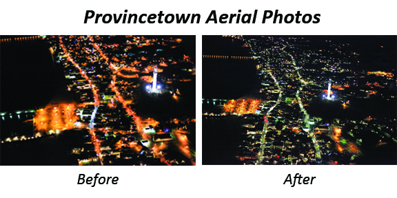 Provincetown LED Installs - before & after