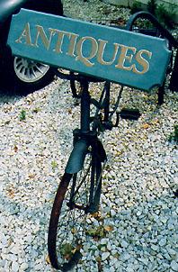 Bikewithantiquessign