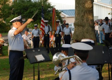 Rotary Park: The U. S. Coast Guard band joins in the celebration of the anniversary of the signing of the United States Constitution