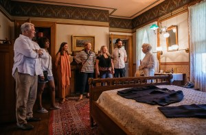 Group tour in the Emlen Physick Estate
