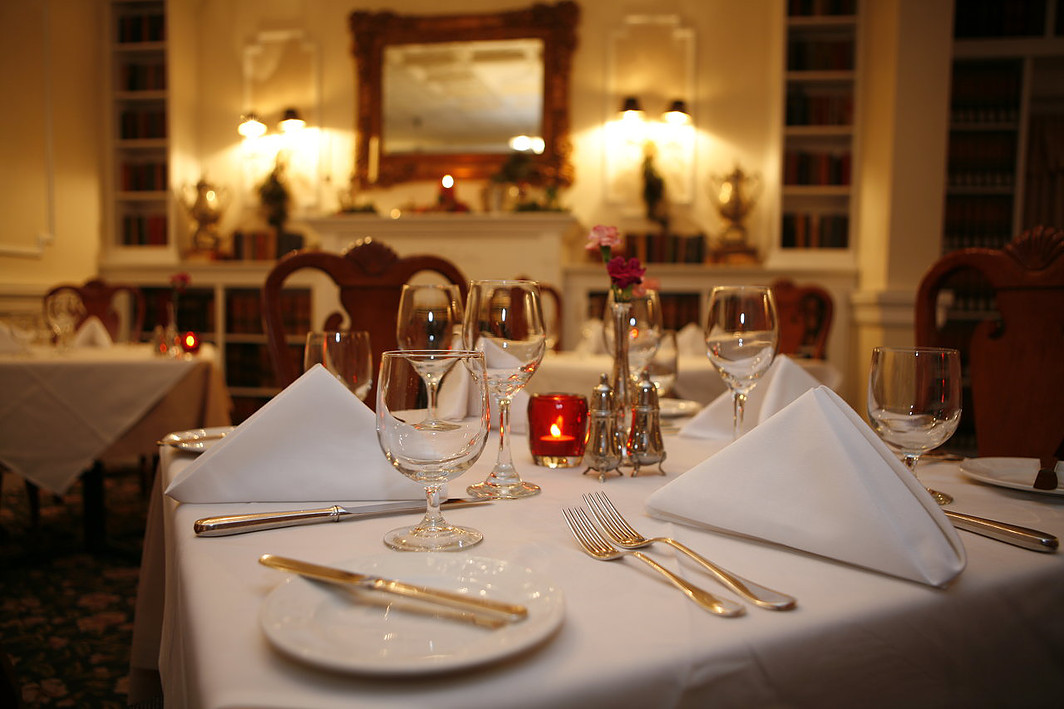 Union Park Dining Room at the Hotel Macomber. Cape May, NJ ...