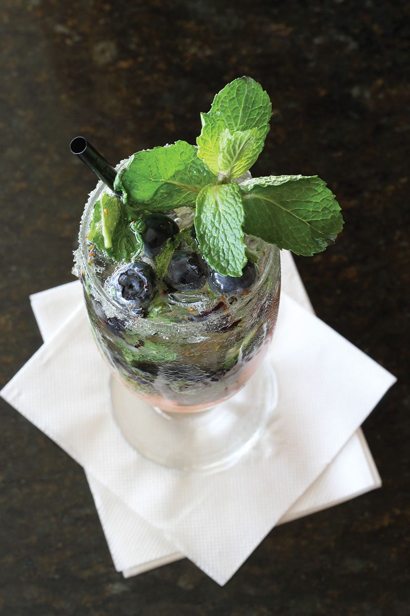 Cocktail: Blueberry Ouzo Lemonada from the Pier House