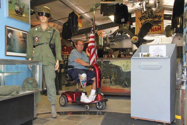 Tom Collins in the Vietnam Veterans Museum