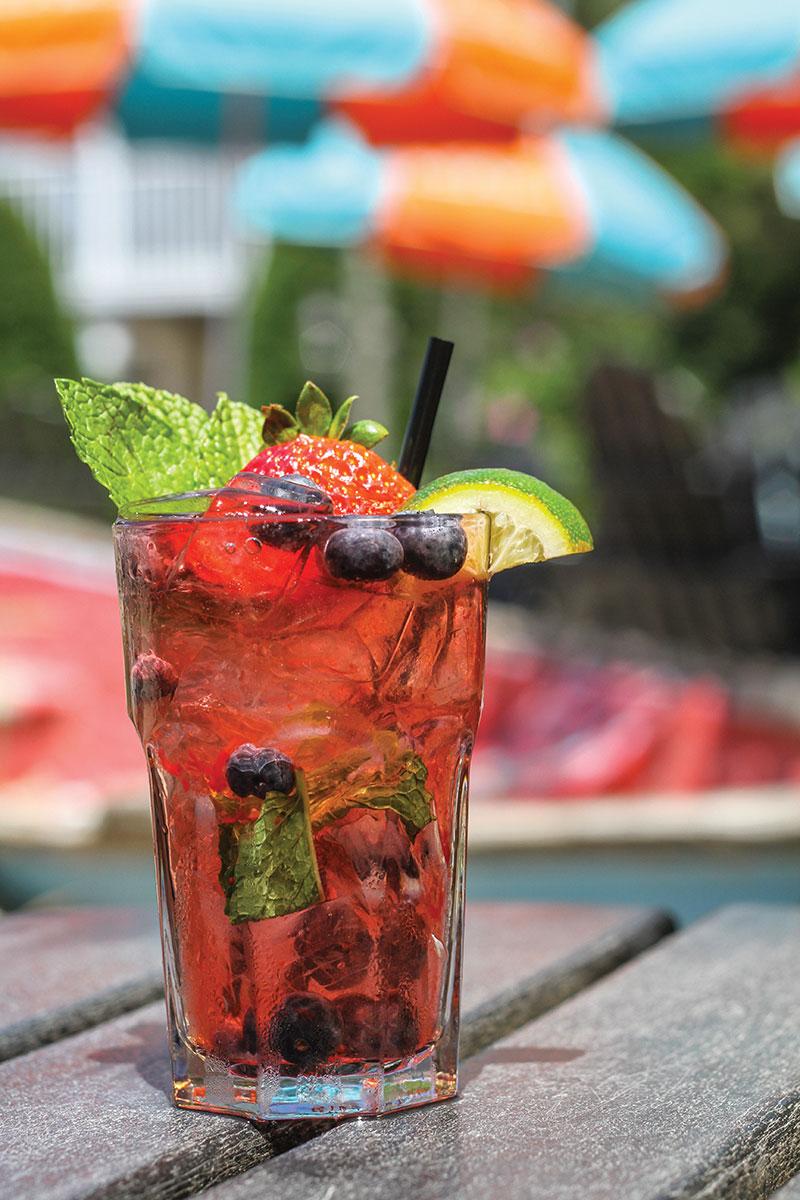 Cocktail: Beach Plum Farm  Berry Mojito
