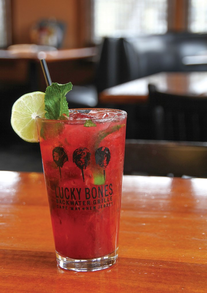 Cocktail: Lucky Bones Beach Plum Mojito