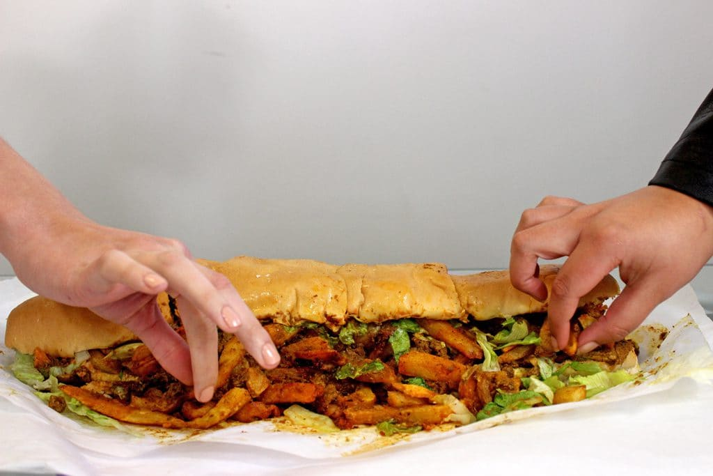 A Masala Steak Gatsby from the Golden Dish in Athlone