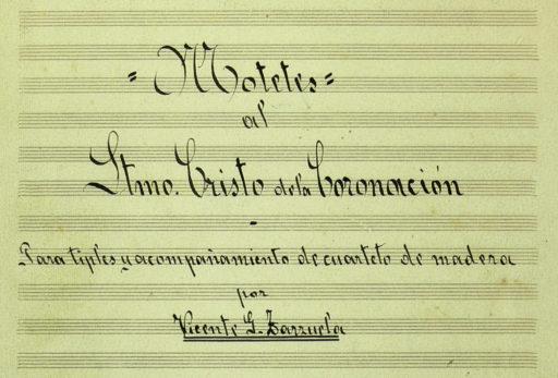 Portada Motetes al Stmo. Cristo de la Coronación (Gómez-Zarzuela)