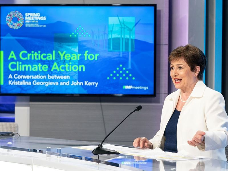 IMF / Kristalina Georgieva and John Kerry on Climate Change
