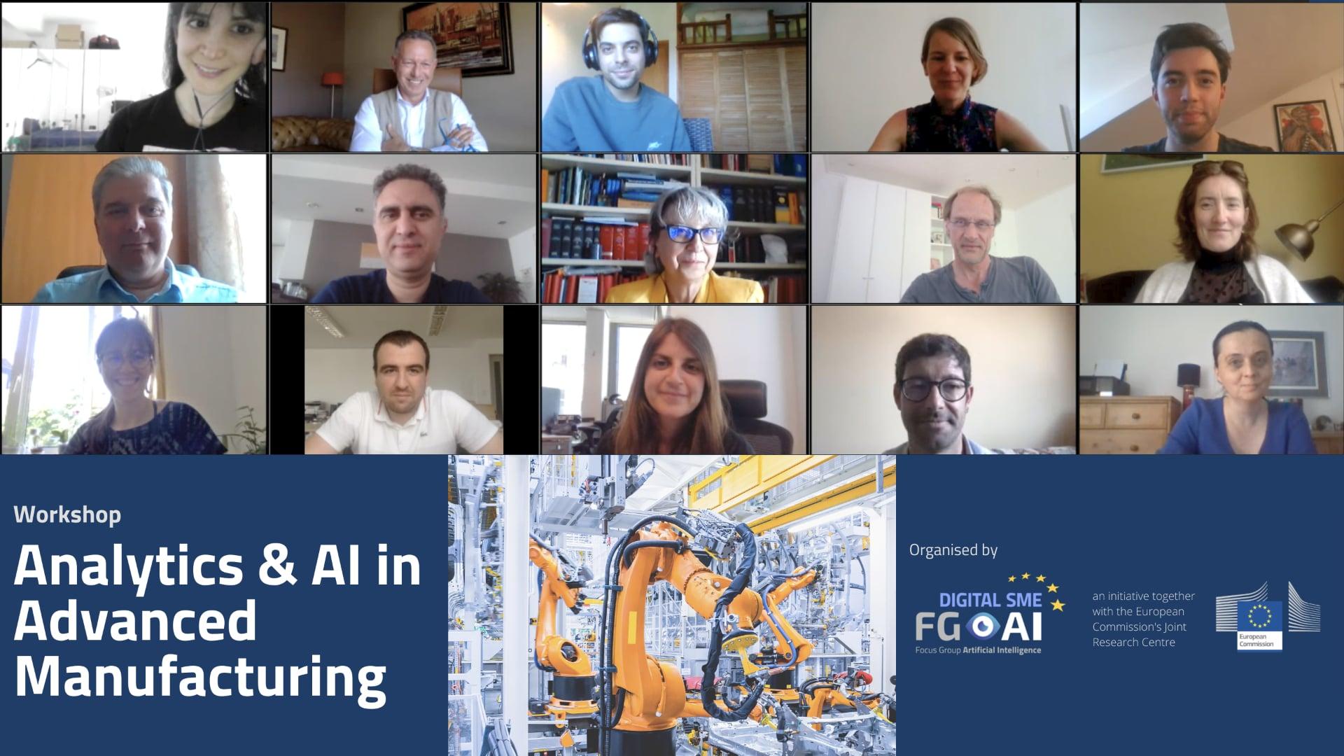 Analytics & AI in Advanced Manufacturing – Workshop