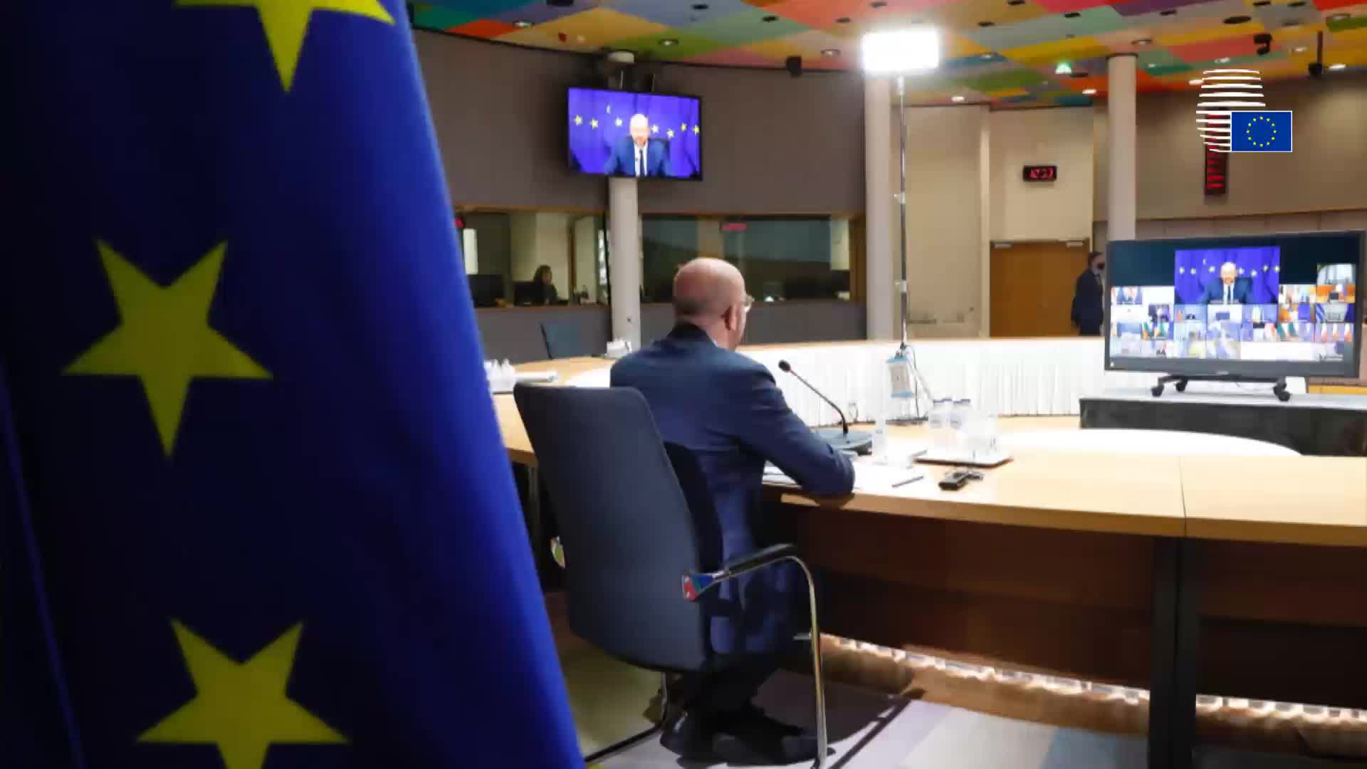 Video conference of the members of the European Council