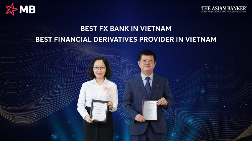 MB named Best FX Bank and Best Financial Derivatives Provider in Vietnam Awards 2021- The Asian Banker