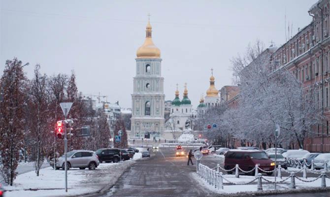 В Украину идет зима: в выходные дождь с мокрым снегом, ночью мороз