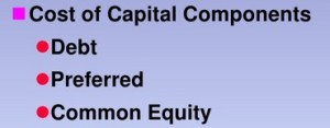Cost of capital components