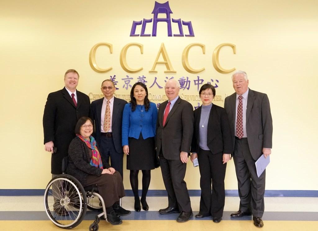 参议员Ben Cardin (右三)于CCACC 大厅合照