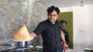 Chef Thottungal offers up a dosa