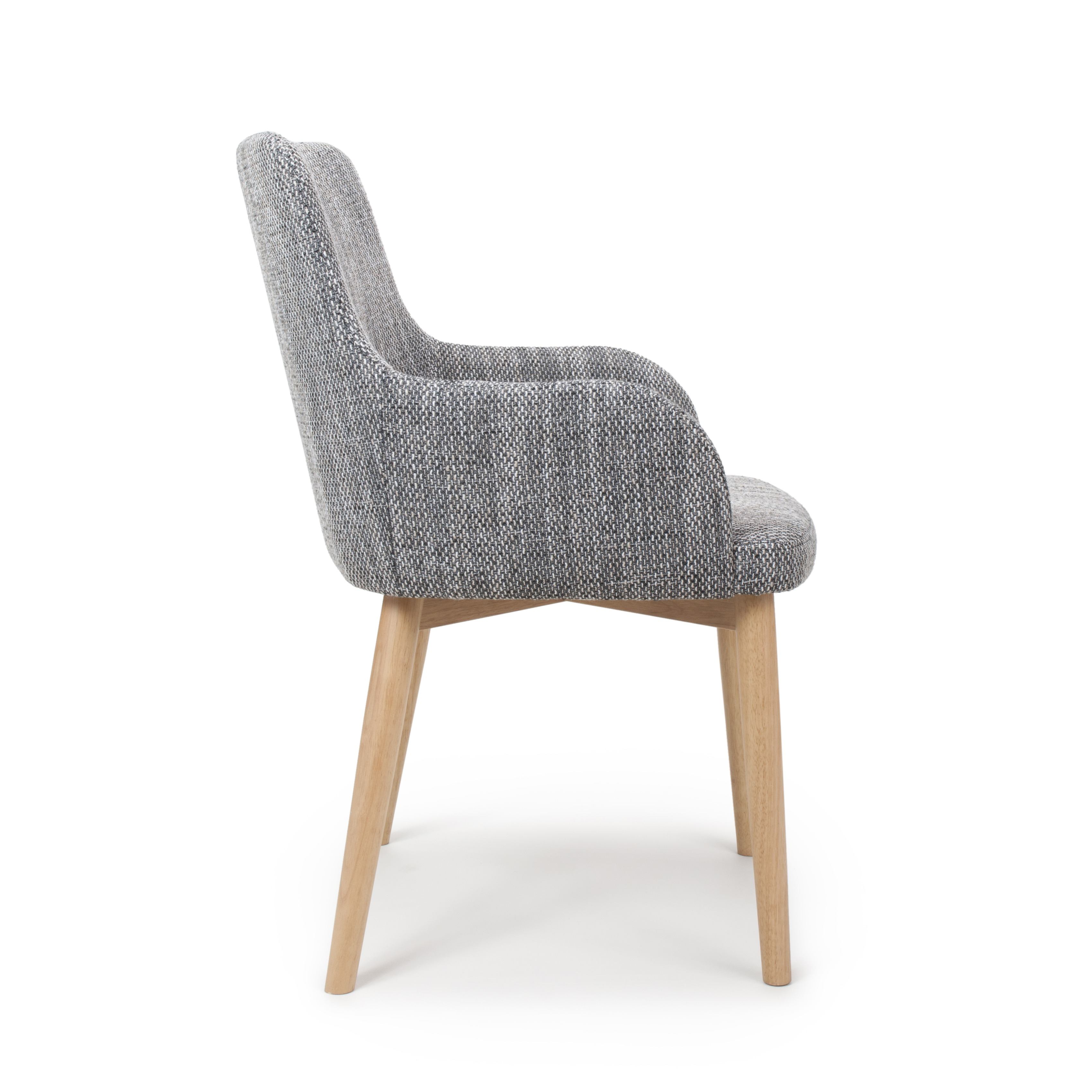 Sidcup Grey Tweed Fabric Modern Dining Chairs