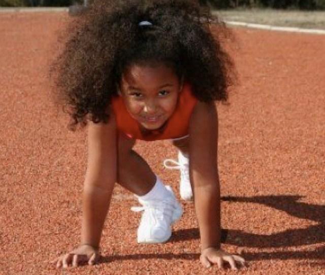 Black Girl Running Track