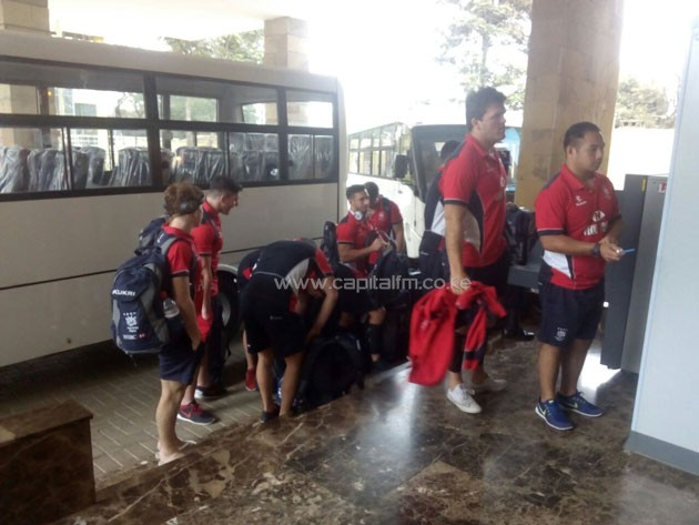 Hong Kong national rugby 15s team arrived on Friday morning ahead of the international friendly matches against Kenya.