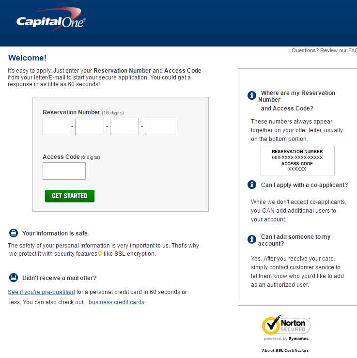 How long to get capital one credit card in mail